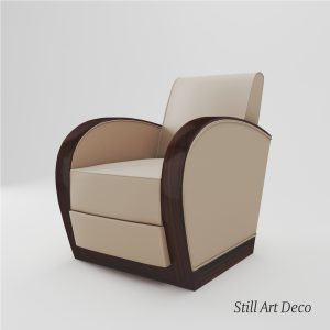 3d Model Art Deco Armchair - France About 1920