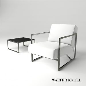 3d Model Armchair Sen And Table From Walter Knoll - Design By Kengo Kuma