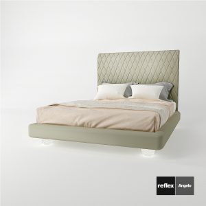 3d Model Bed Rialto Letto From Reflex Angelo – Design By Reflex