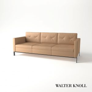 3d Model Sofa Foster 502 From Walter Knoll - Design By Norman Foster