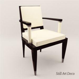 3d Model Armchair - Art Deco Style