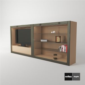3d Model Avantgarde Luce Collection From Reflex Angelo - Design By Reflex (Hi-Fi Case, Wall Unit, Shelf Case)
