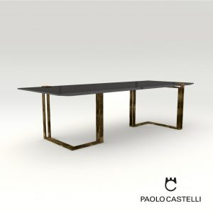 3d Model Black&Gold Table From Paolo Castelli - Design By Luca Scacchetti