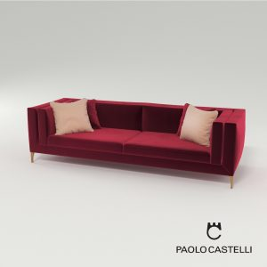 3d Model Sofa Ellegance 256 From Paolo Castelli - Design By Paolo Castelli