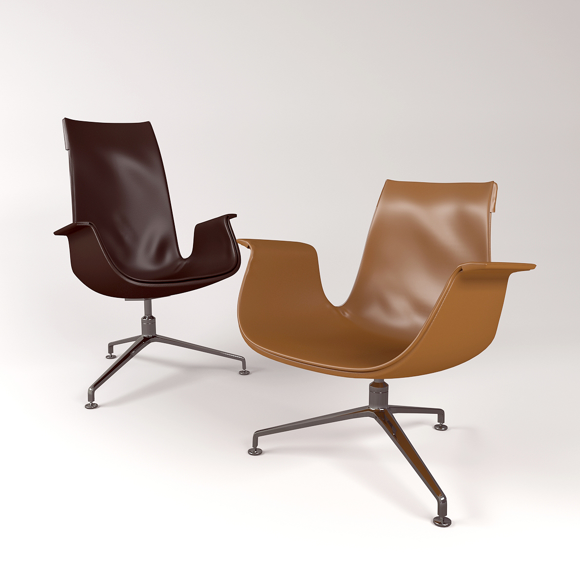 Chair Fk Lounge From Walter Knoll 3d Realistic Model
