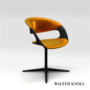 3d Model Chair Lox From Walter Knoll - Design By Pearson Lloyd