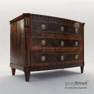 3d Model Classicist Commode - Dresden, Germany Around 1800 - Georg Britsch