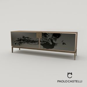 3d Model Cabinet Peacock High, Low, Cocktail From Paolo Castelli - Design By Paolo Castelli