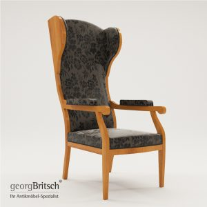 3d Model Biedermeier Wing Armchair – South Germany 1880 - Georg Britsch