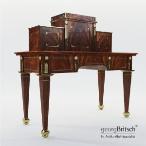 3d Model Empire Desk By The Workshop Johannes Klinckerfuss - Germany Around 1804/05 - Georg Britsch