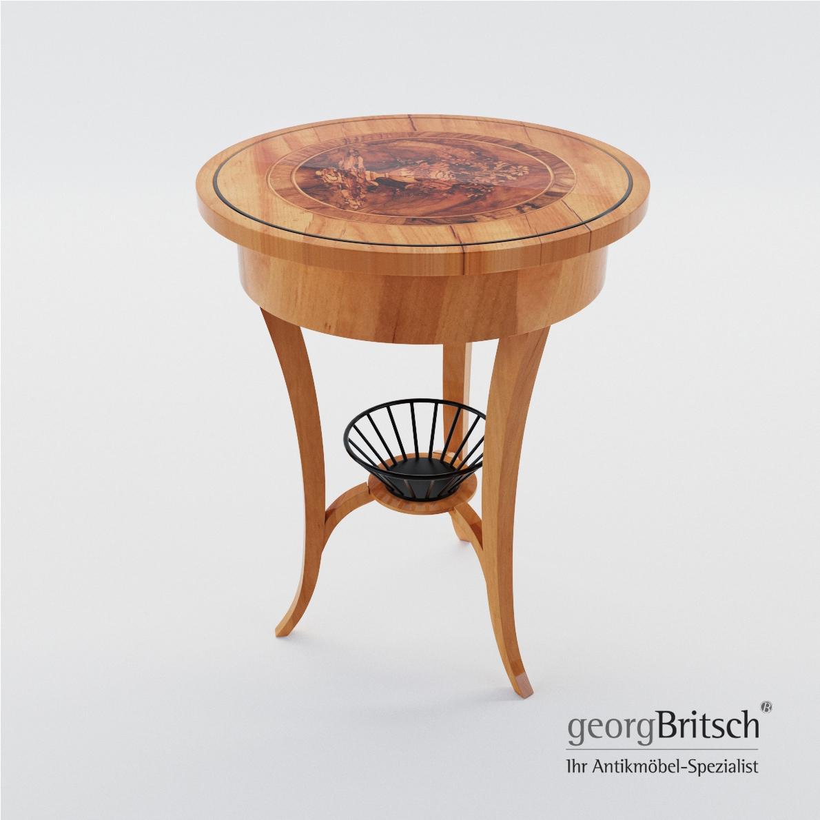 Biedermeier Sewing Table Georg Britsch 3d Realistic