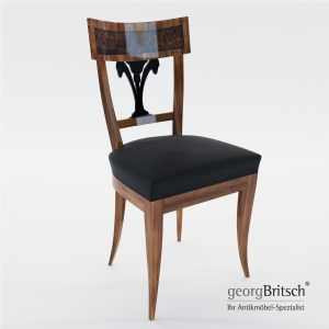 3d Model Biedermeier Chair With Black Lacker Ornament – South Germany, Munich 1815 - Georg Britsch