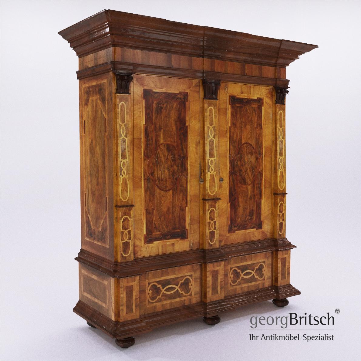 Baroque Cupboard Georg Britsch 3d Realistic Model