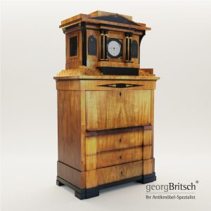 3d Model Biedermeier Secretaire With Musical Clock From Fridrich Knauth Neisse - Germany Around 1810 - Georg Britsch