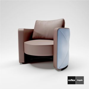 3d Model Armchair Atena Poltrona From Reflex Angelo - Design By Emanuele Missaglia