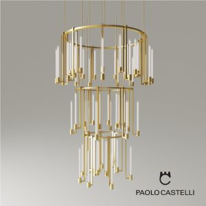 3d Model Chandelier Kalí 2 And 3 Ring From Paolo Castelli - Design By Paolo Castelli