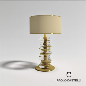 3d Model Table Lamp Ambra From Paolo Castelli - Design By Ilaria Balduino Sartori